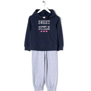 Zippy | Φόρμα φούτερ με κουκούλα για κορίτσι