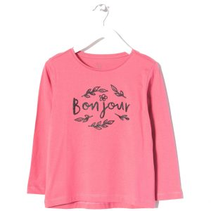 """Μπλούζα Μακρυμάνικη για Κορίτσι """"Bonjour"""" Zippy"""
