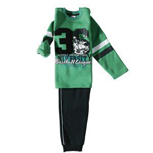 Φόρμα Φούτερ Για Αγόρι Πράσινο Μαύρο