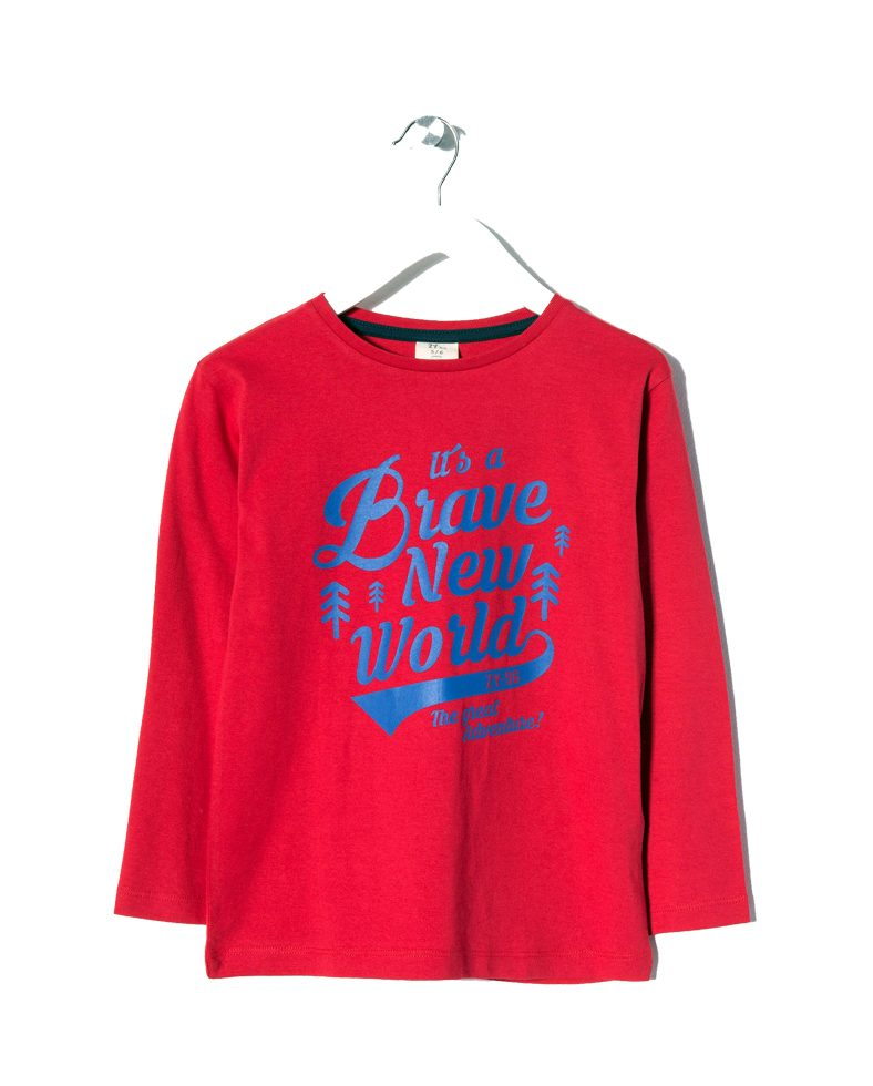 ba1179e42f81 Μπλούζα Μακό Μακρυμάνικη Για Αγόρι Κόκκινη Με Σχέδιο Zippy