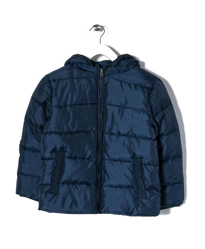 Μπουφάν Χειμωνιάτικο Μπλε Για Αγόρι Με Κουκούλα