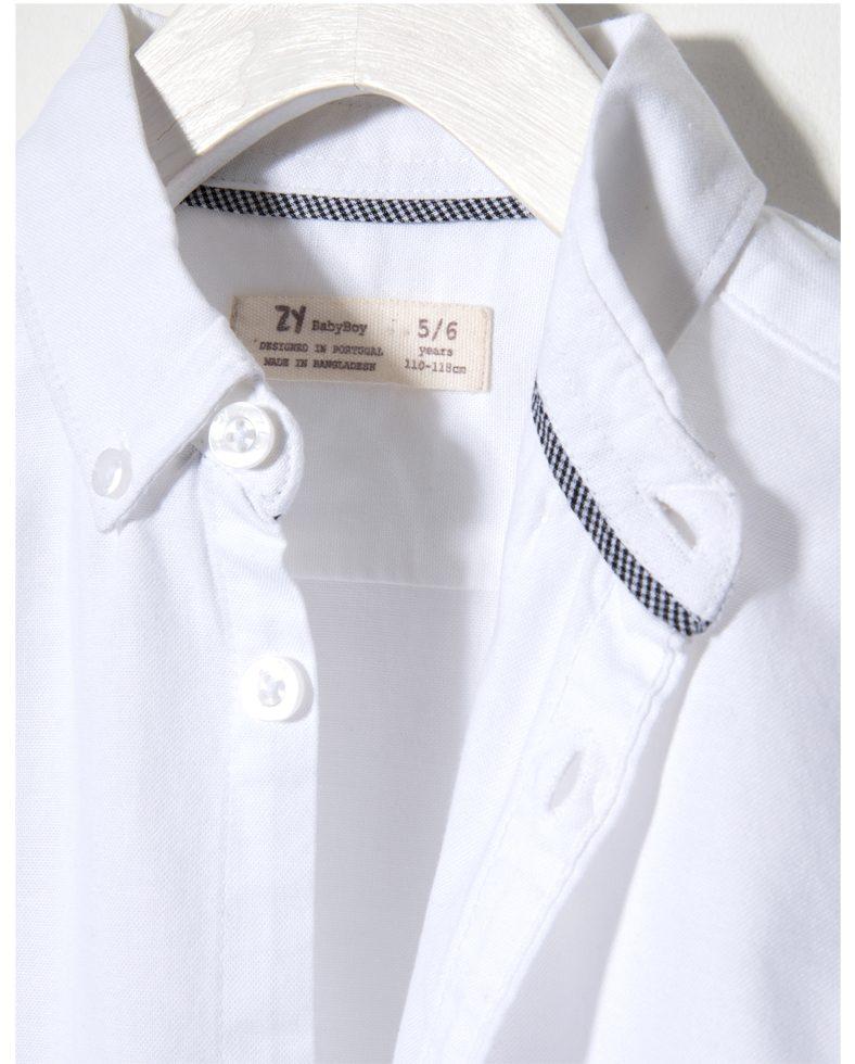 1c3e85ba32b0 Παιδικό Λευκό Πουκάμισο Oxford Για Αγόρι Zippy | Poulain.gr