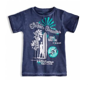 Παιδική Μπλούζα Κοντομάνικη Για Αγόρι Μπλε