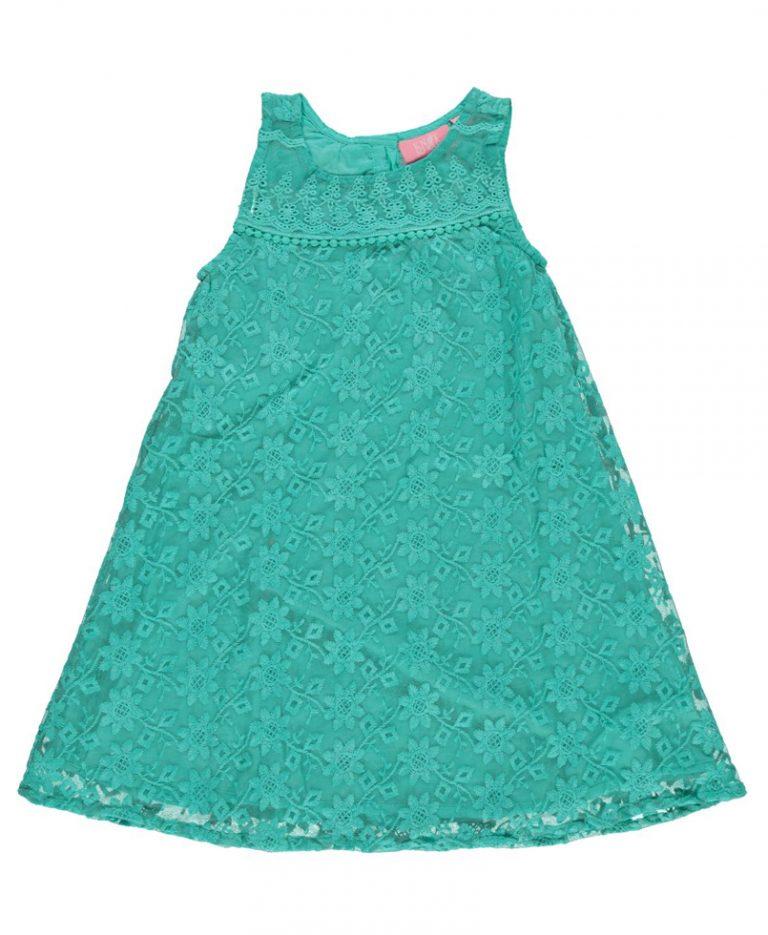 Φόρεμα Πετρόλ Με Δαντέλα