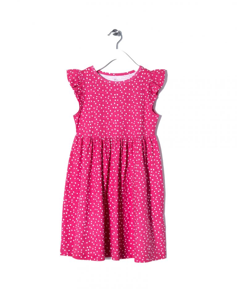 Φόρεμα Φούξια Μακό