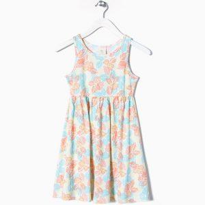 Φόρεμα Αμάνικο Εμπριμέ Με Σχέδιο
