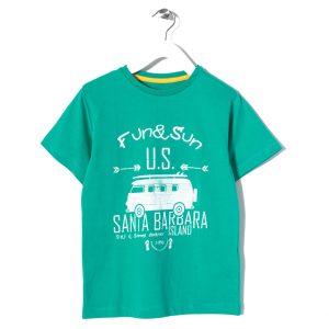 Μπλούζα Κοντομάνικη Για Αγόρι Πράσινη