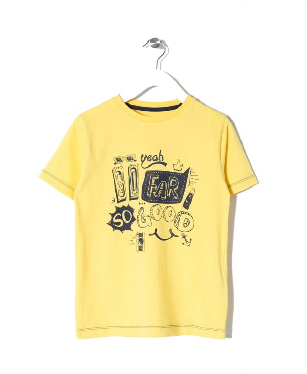 Μπλούζα Κοντομάνικη Κίτρινη