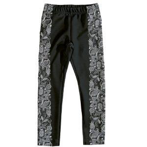Παντελόνι - Κολάν Μαύρο Με Σχέδιο Στο Πλάι