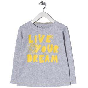 """Μπλούζα Μακό Για Κορίτσι """"Live Your Dream"""""""