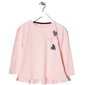 Μπλούζα μακό μακρυμάνικη ροζ