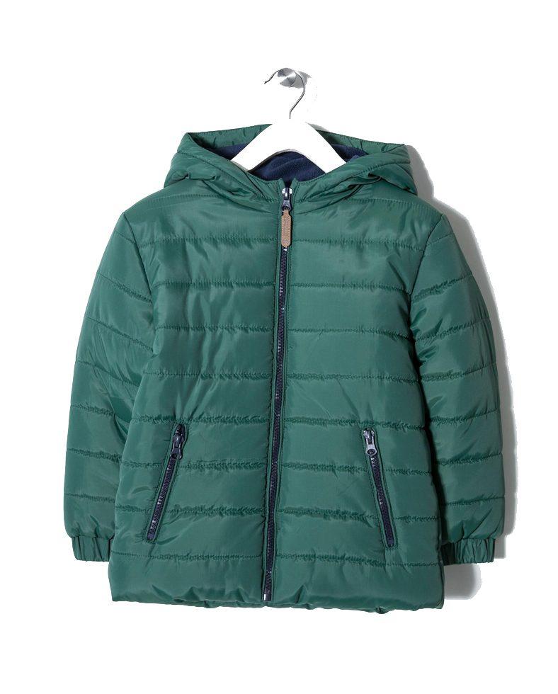 396af772988 Zippy | Μπουφάν Πράσινο Με Κουκούλα Και Επένδυση Fleece | Poulain.gr