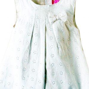 Βρεφικό Φόρεμα Με Schiffli Δαντέλα Λευκό Knot So Bad | Poulain.gr
