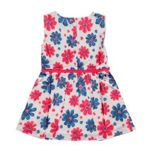 """Βρεφικό Φόρεμα """"Fuchsia Blossom"""" Φουξια/Μπλε Knot So Bad"""