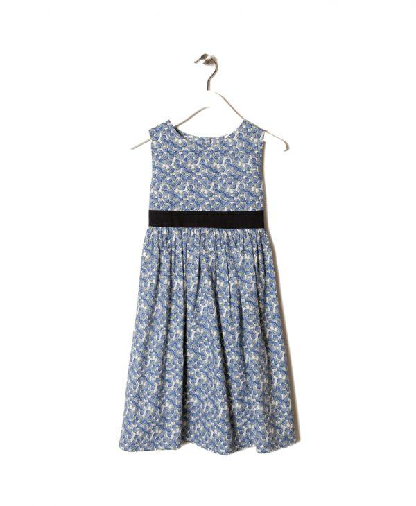 Φόρεμα Αμάνικο Μπλε Φλοράλ
