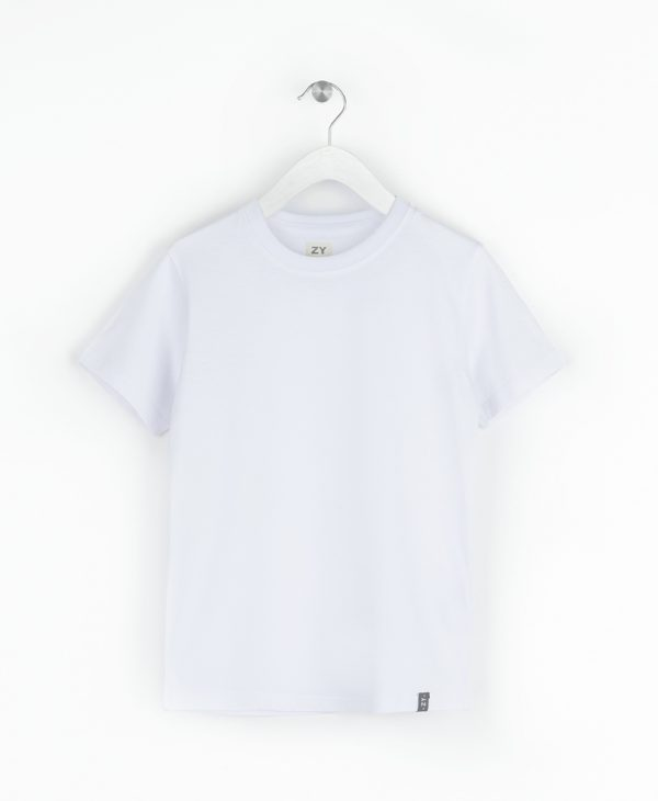 Μπλούζα Μακό Κοντομάνικη Λευκή