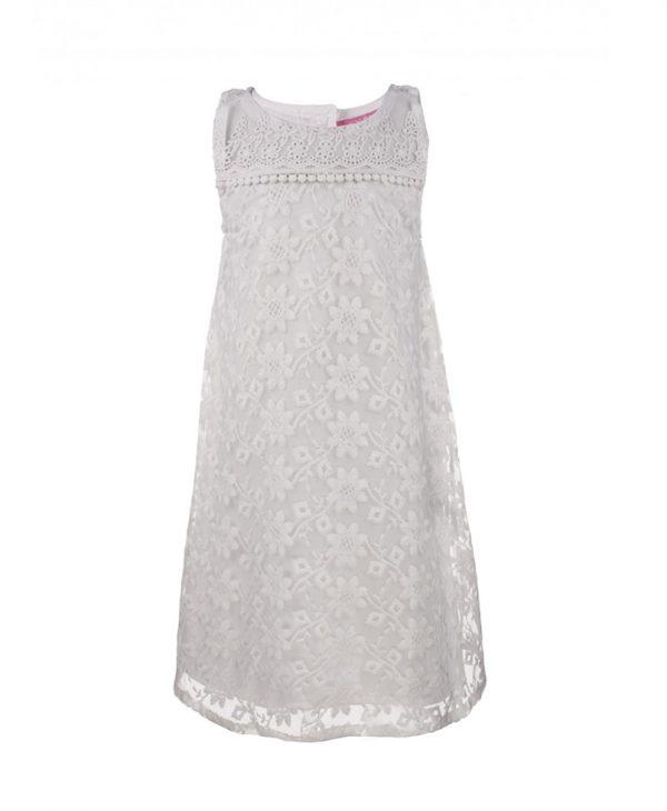 Φόρεμα λευκό με δαντέλα