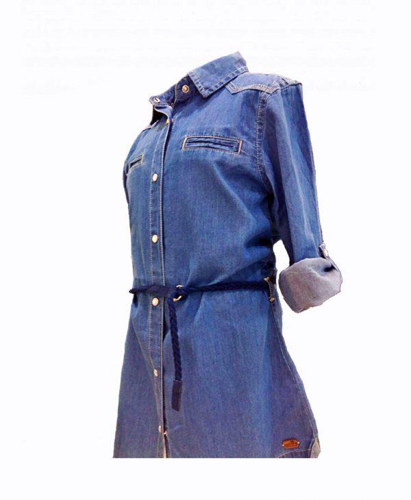 Πουκαμίσα - Φόρεμα Τζιν Για Κορίτσι