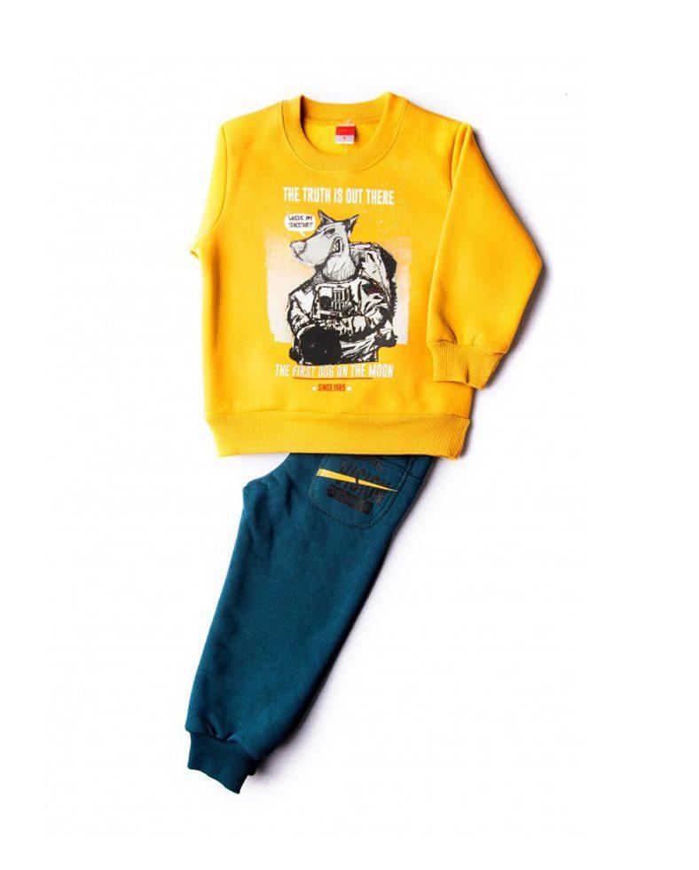 Παιδική Φόρμα Για Αγόρι Μπλούζα Μουσταρδί Παντελόνι Κυπαρισσί ... a7ccf908463