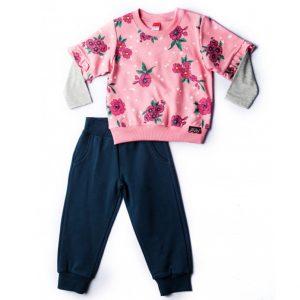 Φόρμα Φούτερ Για Κορίτσι Ροζ Μπλε