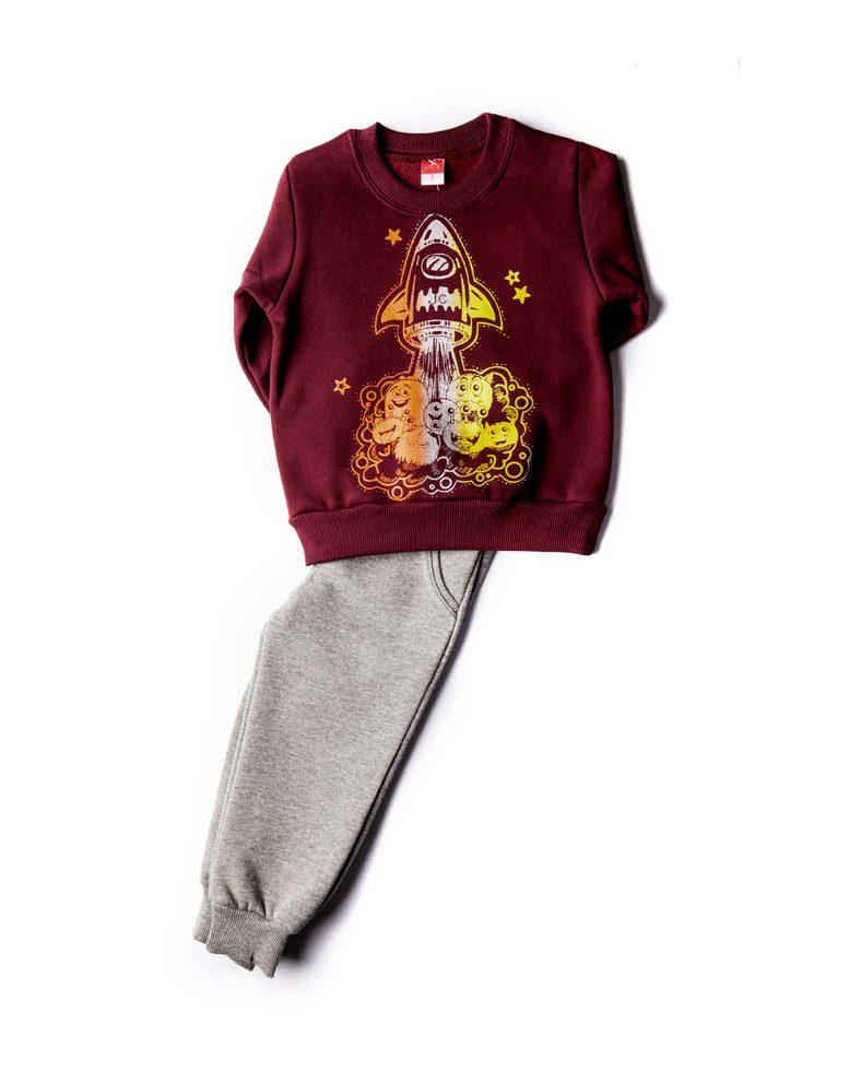 Παιδική Φόρμα Φούτερ Για Αγόρι 1-5 Space Monster 85424 Joyce ... 9887f625496