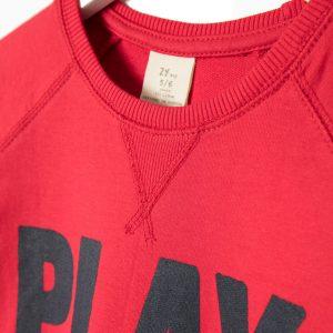 Μπλούζα Φούτερ Κόκκινη Για Αγόρι