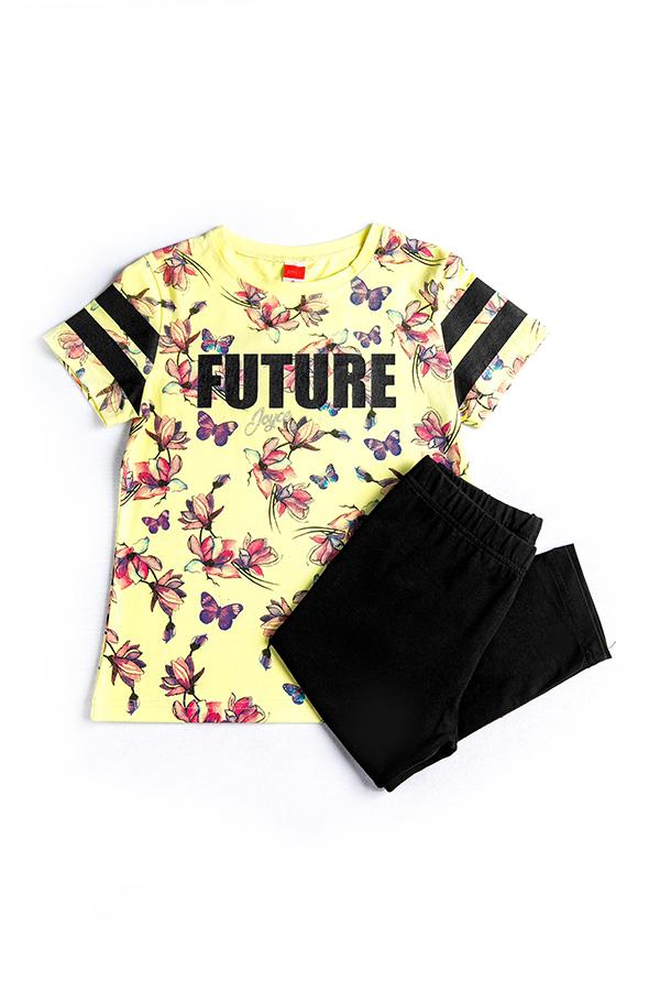 c7fa41479f6 Σετ Μπλούζα Κολάν Κάπρι Για Κορίτσι Set Future | Παιδικά Ρούχα Poulain