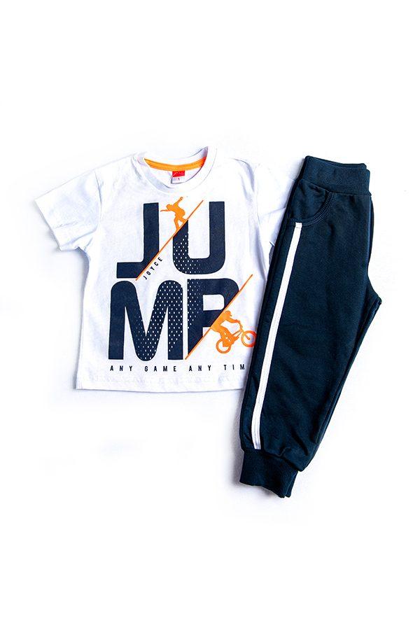 """Εποχιακή Φόρμα Με Κοντομάνικη Μπλούζα Για Αγόρι """"Jump"""""""