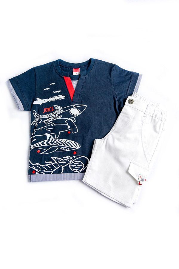 """Σετ Μπλούζα & Σορτς ΚαπαρντίναΓια Αγόρι """"Sharks"""" 91260 Joyce"""