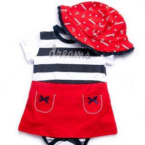 """Φορμάκι και Καπελάκι Μπεμπέ """"Sailor"""" 98214 Dreams"""