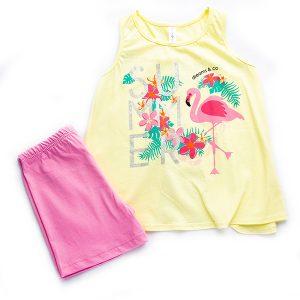 """Πυτζάμα Μπλούζα & Σορτς """"Flamingo"""" 98610 Dreams"""