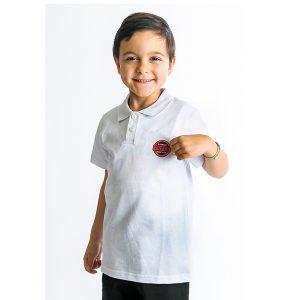 Μπλούζα Πόλο Πικέ Λευκή