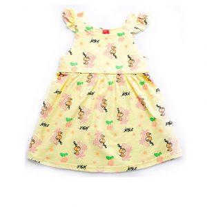 """Φόρεμα Μακό Αμάνικο Κίτρινο """"Flamingo"""" 92407 Joyce"""