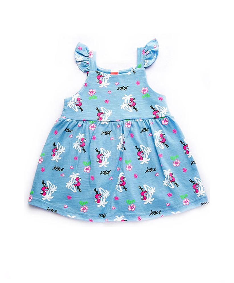 """Φόρεμα Μακό Αμάνικο Γαλάζιο """"Flamingo"""" 92407 Joyce"""