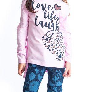 Σετ Hearts Για Κορίτσι Μπλούζα & Κολάν 94638 Joyce