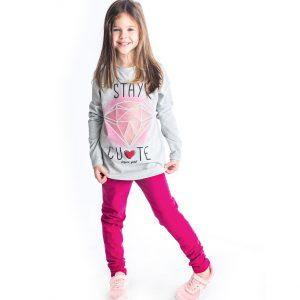 Σετ Stay Cute Για Κορίτσι Μπλούζα & Κολάν 94633 Joyce