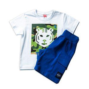 Σετ Καλοκαιρινό Tiger Μπλούζα & Σορτς 201231 Joyce