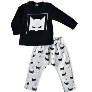 Σετ Μπεμπέ Μαύρο/Γκρι 1605 Kinder | Βρεφικά Ρούχα