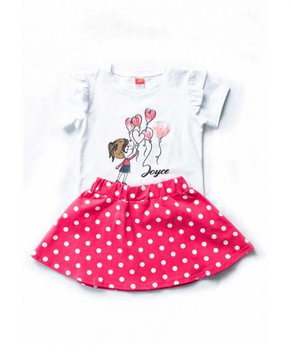 """Σετ """"Aiballoon"""" Μπλούζα & Φούστα Για Κορίτσι 201119 Joyce"""