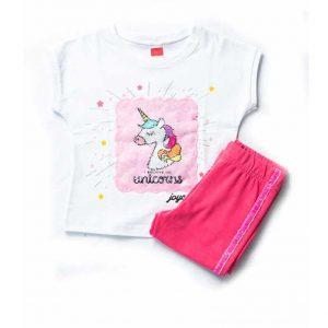 """Σετ """"Sweet Unicorn"""" Μπλούζα & Κάπρι Κολάν 201139"""