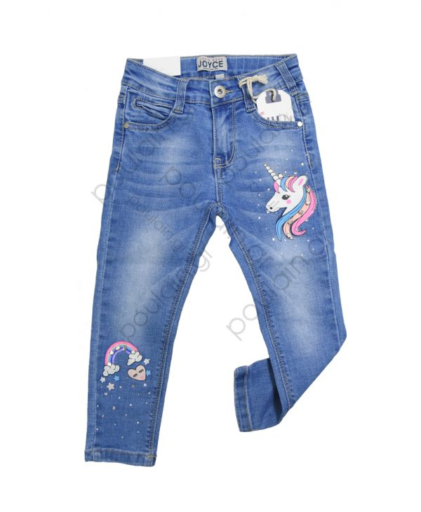 """Παντελόνι Τζιν """"Unicorn"""" Για Κορίτσι 1-5 203114 Joyce"""