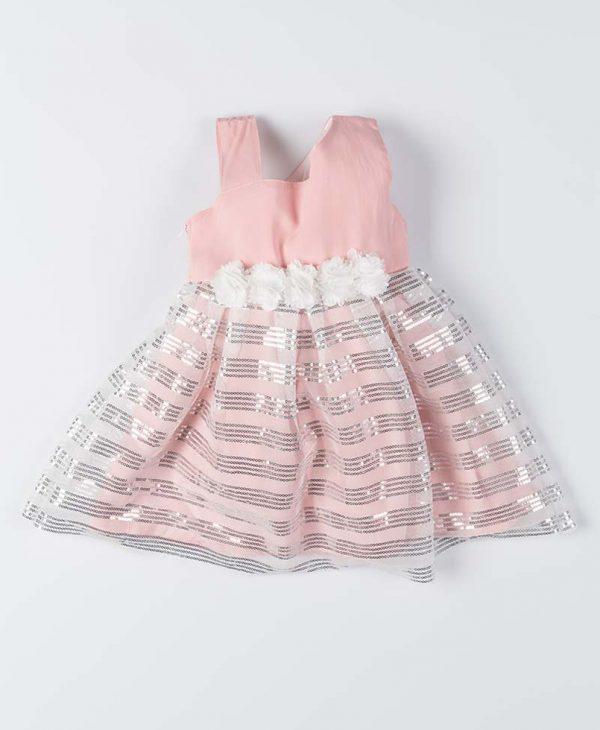 Παιδικό Φόρεμα New College Για Κορίτσι Σομόν