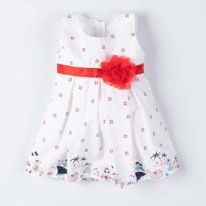 Παιδικό Φόρεμα New College Για Κορίτσι Με Κορδέλα Και Λουλούδι