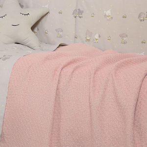 Βρεφική Κουβέρτα Κούνιας 110x150 Smooth Pink Nef-Nef