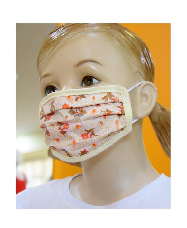 """Παιδική Υφασμάτινη Μάσκα """"Orange Blossom"""""""