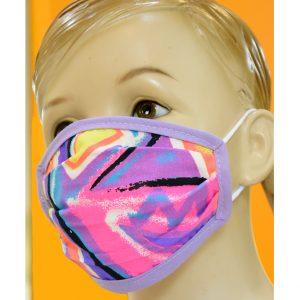 """Παιδική Υφασμάτινη Μάσκα """"Purple Fantasy"""""""