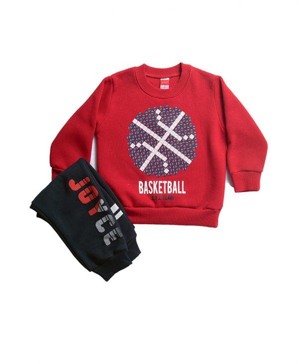"""Φόρμα Φούτερ """"Basket"""" Για Αγόρι 1-5"""