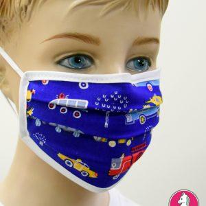 """Παιδική Υφασμάτινη Μάσκα Πολλαπλών Χρήσεων """"Trucks"""""""