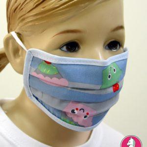 """Παιδική Υφασμάτινη Μάσκα Πολλαπλών Χρήσεων """"Cherry Muffins"""""""