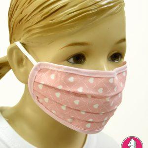 """Παιδική Υφασμάτινη Μάσκα Πολλαπλών Χρήσεων """"Hearts"""""""